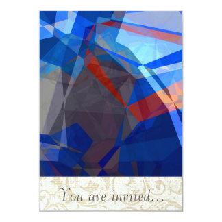 Abstract Polygons 260 13 Cm X 18 Cm Invitation Card