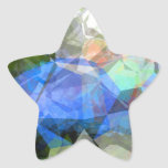 Abstract Polygons 41 Star Sticker