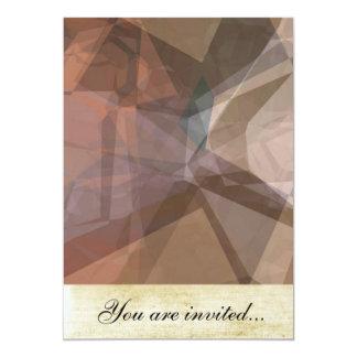 Abstract Polygons 66 13 Cm X 18 Cm Invitation Card