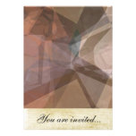 Abstract Polygons 66 Custom Invitation