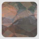 Abstract Polygons 76 Square Sticker