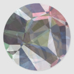 Abstract Polygons 89 Round Stickers