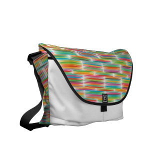 Abstract Pop art multicolor rainbow mosaic Courier Bags