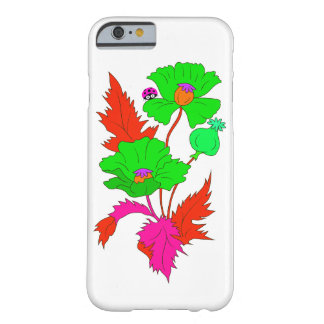 Abstract Poppy and Ladybird Barely There iPhone 6 Case