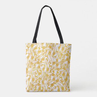 Abstract Poppy Seeds Gold Tote Bag