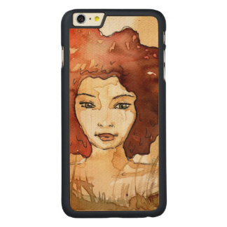 Abstract portrait 3 carved® maple iPhone 6 plus case
