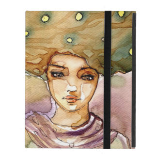 Abstract portrait and pretty woman cases for iPad