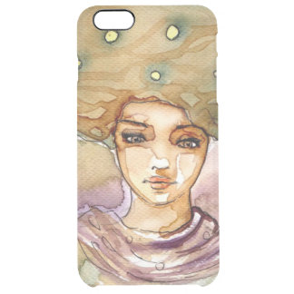 Abstract portrait and pretty woman clear iPhone 6 plus case