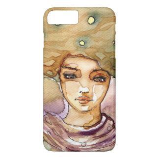 Abstract portrait and pretty woman iPhone 8 plus/7 plus case