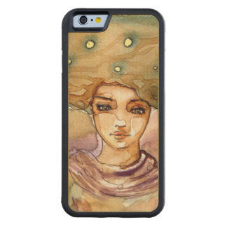Abstract portrait and pretty woman maple iPhone 6 bumper case