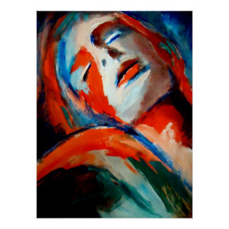 Abstract Portrait of a woman Painting - Art Prints Print