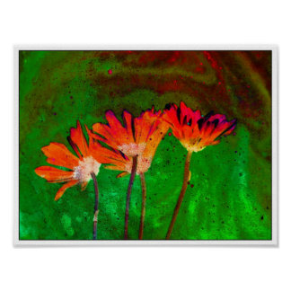 Abstract Poster Abstract Flowers