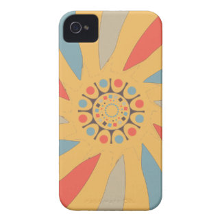 Abstract Propeller Blades On Beeswax Orange Yellow Case-Mate iPhone 4 Cases