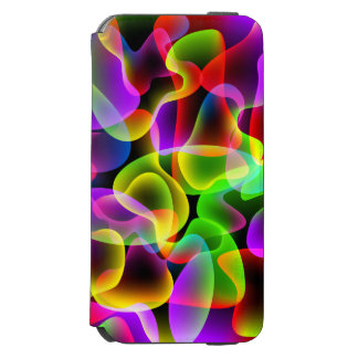 Abstract Psychedelic Multicolored Neon Lava Swirls Incipio Watson™ iPhone 6 Wallet Case