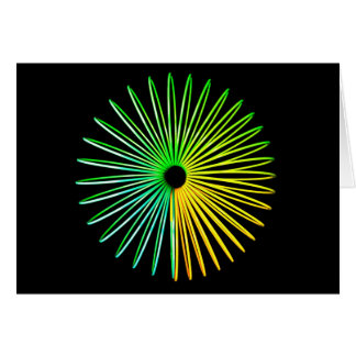 Abstract Psychedelic Optical Illusion Card