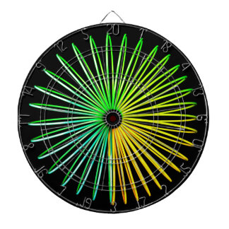 Abstract Psychedelic Optical Illusion Dart Board