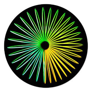 Abstract Psychedelic Optical Illusion Invitation 13cm X 13cm Square Invitation Card