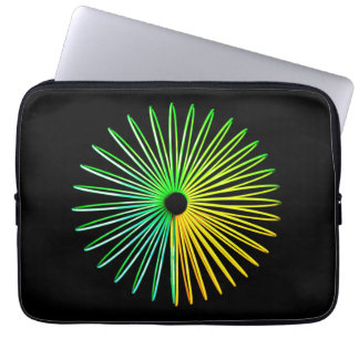 Abstract Psychedelic Optical Illusion Laptop Computer Sleeve