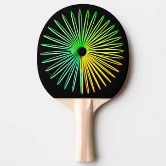 Abstract Psychedelic Optical Illusion Ping Pong Ping Pong Paddle