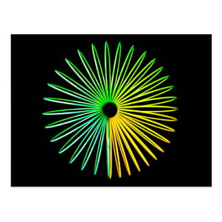 Abstract Psychedelic Optical Illusion Postcard