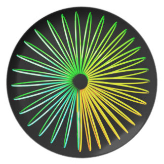 Abstract Psychedelic Optical Illusion Toy Plate