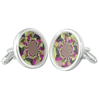 Abstract Psychedelic Pattern Cuff Links