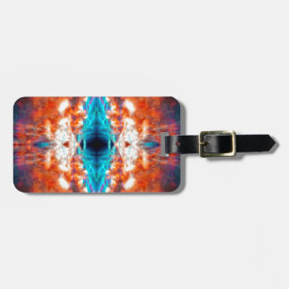 Abstract psychedelic pattern luggage tag