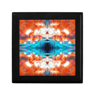 Abstract psychedelic pattern small square gift box