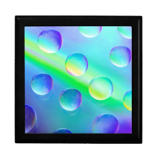 Abstract Psychedelic Rainbow Drops Macro Gift Box