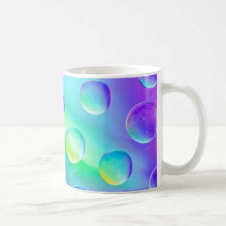 Abstract Psychedelic Rainbow Drops Macro Mug