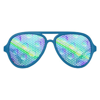 Abstract Psychedelic Rainbow Drops Sunglasses