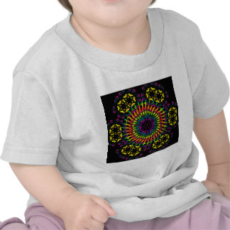 Abstract Psychedelic Spiral Vortex Tee Shirts