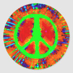 Abstract Psychedelic Tie-Dye Peace Sign