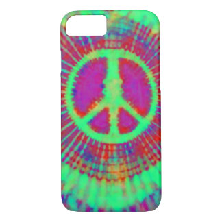 Abstract Psychedelic Tie-Dye Peace Sign iPhone 8/7 Case