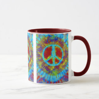 Abstract Psychedelic Tie-Dye Peace Sign Mug