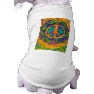 Abstract Psychedelic Tie-Dye Peace Sign Shirt
