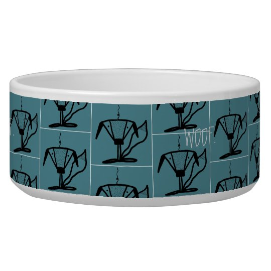 Abstract Puppy Water Bowl Small