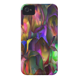 Abstract Purple and Floral by Trevor Star iPhone 4 Case-Mate Case