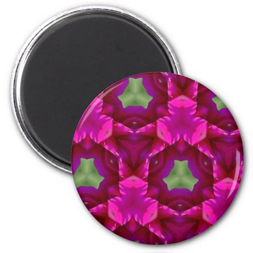 Abstract Purple And Green Products Fridge Magnet