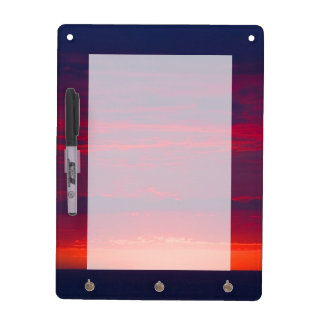 Abstract Purple and Orange Sunset Dry Erase Board