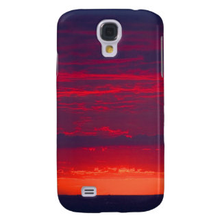 Abstract Purple and Orange Sunset Galaxy S4 Case