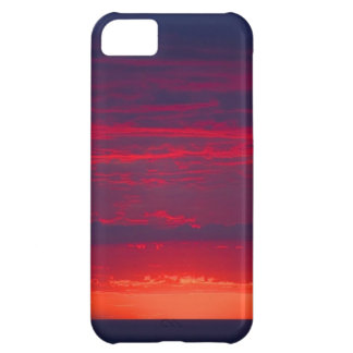 Abstract Purple and Orange Sunset iPhone 5C Case