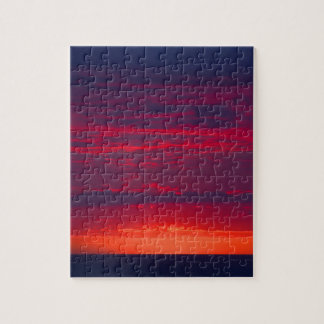 Abstract Purple and Orange Sunset Jigsaw Puzzle
