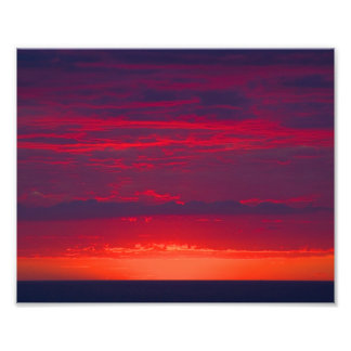 Abstract Purple and Orange Sunset Photo Print