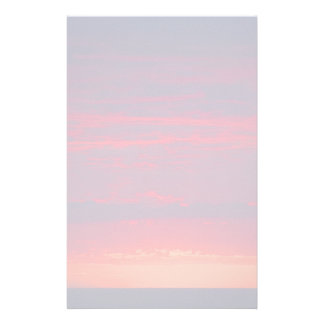 Abstract Purple and Orange Sunset Stationery
