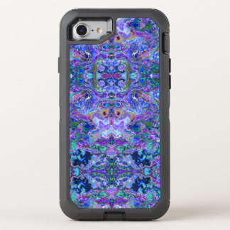 Abstract Purple and Teal Swirls and Ripples Design OtterBox Defender iPhone 8/7 Case
