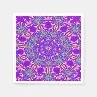 Abstract Purple Background Disposable Serviette