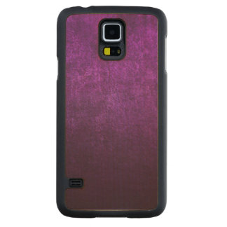 Abstract Purple Background Or Paper With Bright Carved Maple Galaxy S5 Case