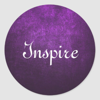 Abstract Purple Background Or Paper With Bright Round Sticker