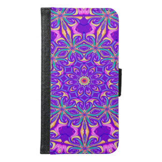 Abstract Purple Background Samsung Galaxy S6 Wallet Case